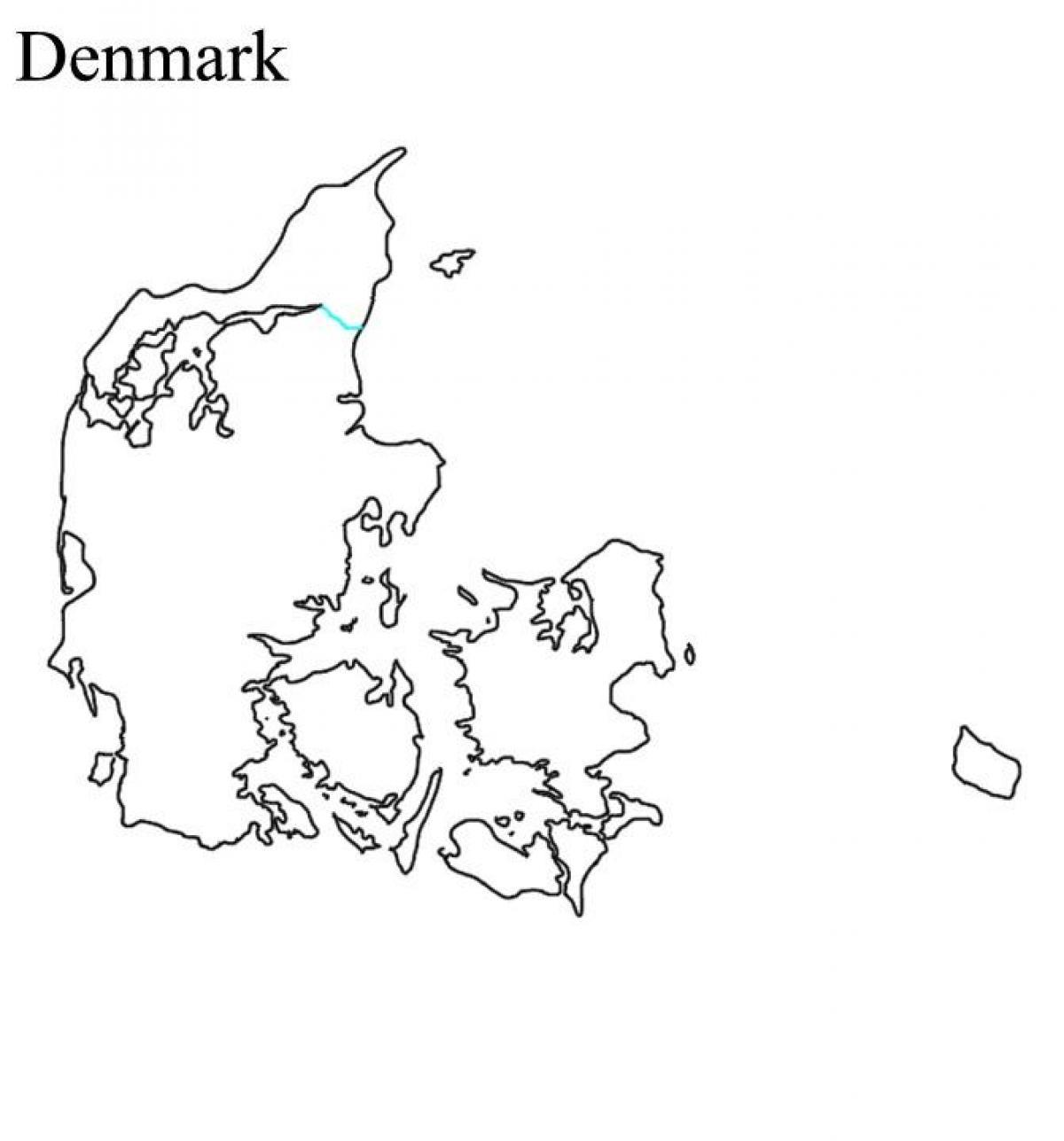 Dansko Prazdne Mape Slepa Mapa Danska Severni Evropa Evropa